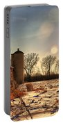 Cold Winter Barn Portable Battery Charger