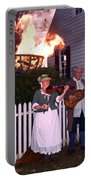 Colonial Musicians By Firelight Portable Battery Charger