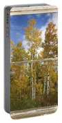 Colorado Autumn Aspens Picture Window View Portable Battery Charger
