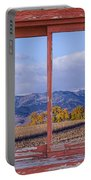 Colorado Country Red Rustic Picture Window Frame Photo Art Portable Battery Charger