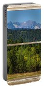 Colorado Indian Peaks Autumn Rustic Window View Portable Battery Charger by James BO  Insogna