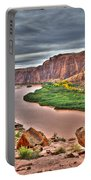 Colorado River Flows Through A Stormy Moab Portal Portable Battery Charger