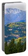 Colorado Rocky Mountain Autumn View Portable Battery Charger