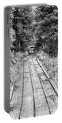 Colorado Rocky Mountain Forest Path Bw Portable Battery Charger