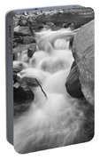 Colorado St Vrain River Trance Bw Portable Battery Charger