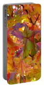 Colorful Autumn Leaves Art Prints Trees Portable Battery Charger