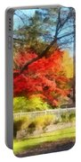 Colorful Autumn Street Portable Battery Charger