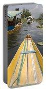 Colorful Boats On Dal Lake Dal Lake Portable Battery Charger