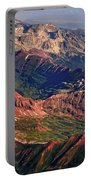Colorful Colorado Rocky Mountains Planet Art Portable Battery Charger