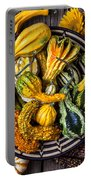 Colorful Gourds In Basket Portable Battery Charger