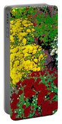 Colorful Mums Photo Art Portable Battery Charger