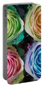 Colorful Rose Spirals Portable Battery Charger
