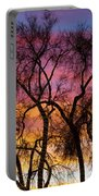 Colorful Silhouetted Trees 26 Portable Battery Charger