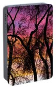 Colorful Silhouetted Trees 27 Portable Battery Charger