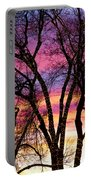 Colorful Silhouetted Trees 33 Portable Battery Charger