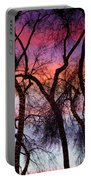 Colorful Silhouetted Trees 9 Portable Battery Charger