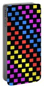Colorful Squares Portable Battery Charger by Louisa Knight