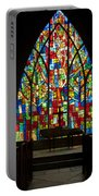 Colorful Stained Glass Chapel Window Portable Battery Charger
