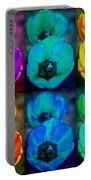 Colorful Tulip Collage Portable Battery Charger by James BO  Insogna
