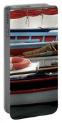Colorful Wooden Boats Portable Battery Charger