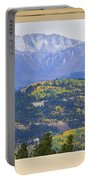 Colorful Rocky Mountain Autumn Picture Window View Portable Battery Charger