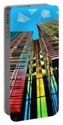 Colors In The City With Clouds Portable Battery Charger
