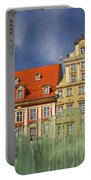 Colourful Buildings And Fountain Portable Battery Charger