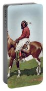 Comanche Brave Portable Battery Charger by Frederic Remington