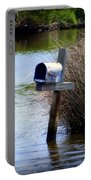 Come Rain Or Shine Or Boat Portable Battery Charger by Karen Wiles