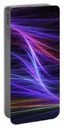 Computer Generated Blue Magenta Abstract Fractal Flame Modern Art Portable Battery Charger