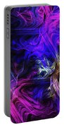 Computer Generated Blue Pink Abstract Fractal Flame Portable Battery Charger