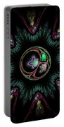 Computer Generated Flower Abstract Fractal Flame Modern Art Portable Battery Charger