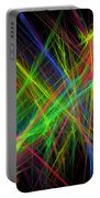 Computer Generated Lines Abstract Fractal Flame Black Background Portable Battery Charger