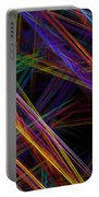 Computer Generated Lines Abstract Fractal Flame Modern Art Portable Battery Charger