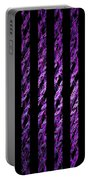Computer Generated Magenta Abstract Fractal Flame Black Backgroud Portable Battery Charger