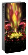 Computer Generated Red Yellow Green Abstract Fractal Flame Portable Battery Charger