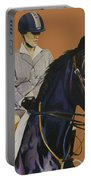 Concentration - Hunter Jumper Horse And Rider Portable Battery Charger