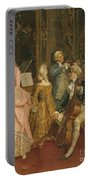Concert At The Time Of Mozart Portable Battery Charger by Ettore Simonetti