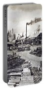 Concord New Hampshire - Logging Camp - C 1925 Portable Battery Charger by International  Images