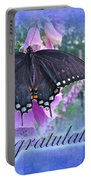Congratulations Greeting Card - Spicebush Swallowtail Butterfly Portable Battery Charger