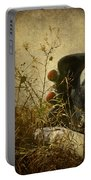 Conversation Dirt Road Portable Battery Charger by Empty Wall