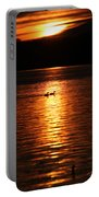 Coots In The Sunset Portable Battery Charger