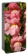 Coral Snapdragons Portable Battery Charger
