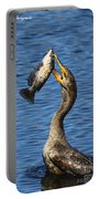 Cormorant Catches Catfish Portable Battery Charger