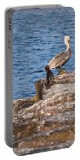 Cormorants And Pelican Portable Battery Charger