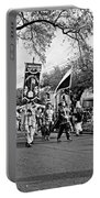 Corner Club 4 Black And White-mardi Gras Portable Battery Charger