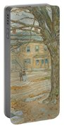 Cos Cob In November Portable Battery Charger by Childe Hassam