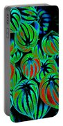 Cosmic Watermelon Leaves Portable Battery Charger