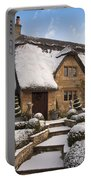 Cotswolds Cottage Covered In Snow Portable Battery Charger