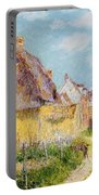 Cottage At Le Vaudreuil Portable Battery Charger by Gustave Loiseau